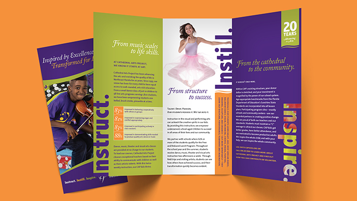 Cathedral Arts Project brochure.