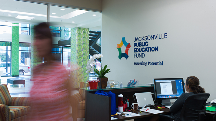 Jacksonville Public Education Fund office at the Jesse Ball duPont Center.