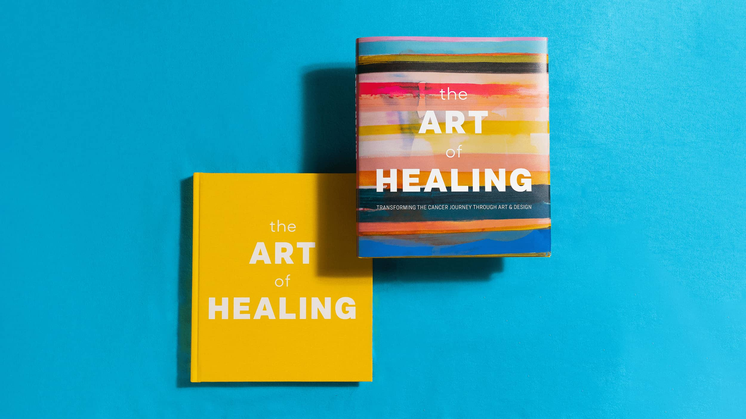 The Art of Healing book cover with and without dust jacket
