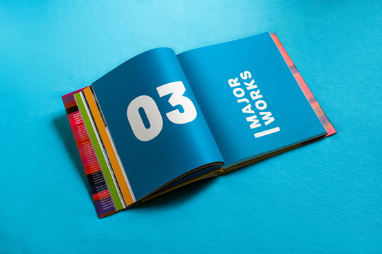 Open book showing chapter 03 - Major Works