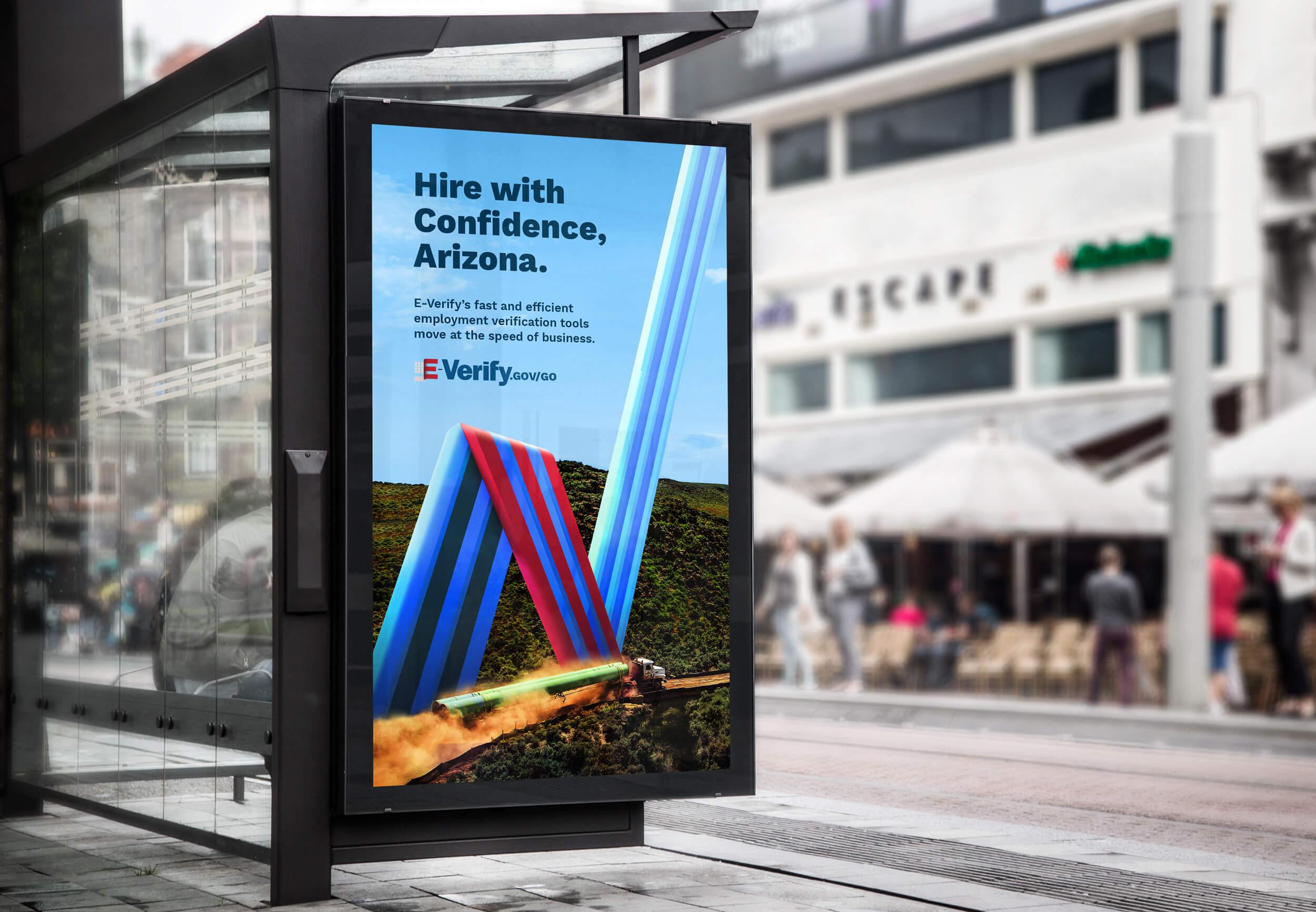 E-Verify Bus Stop Poster