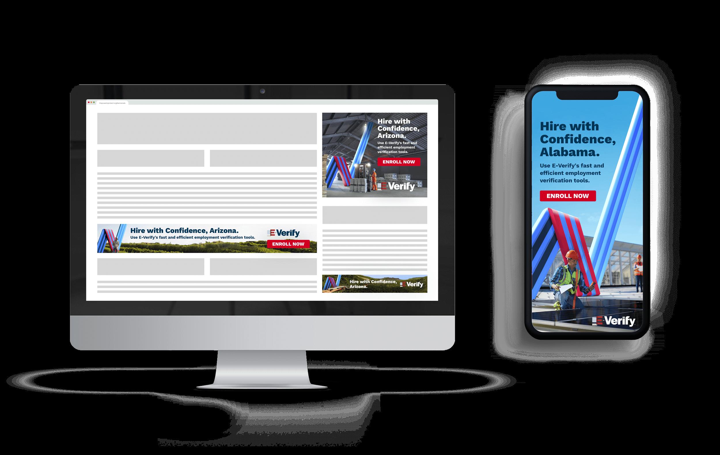 E-Verify Web and Mobile Mockup