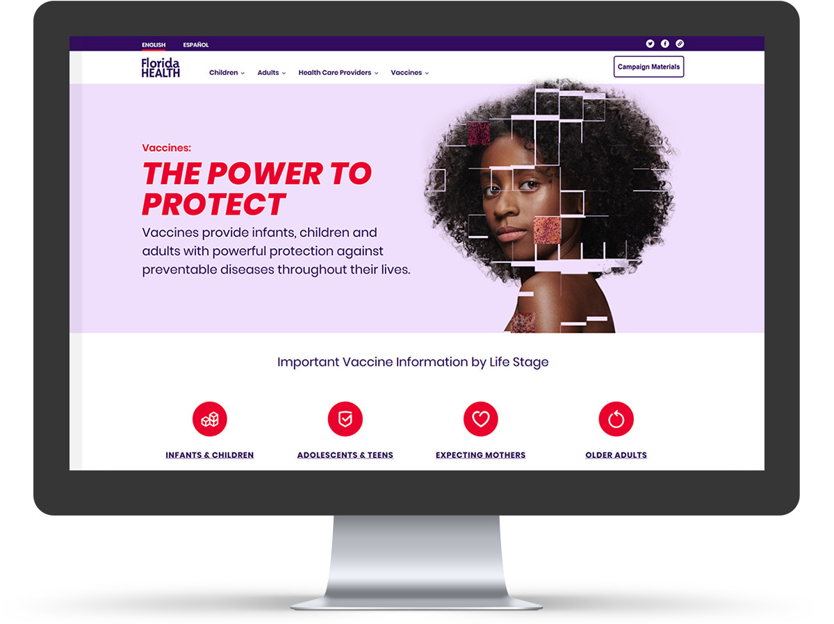 The Power To Protect homepage