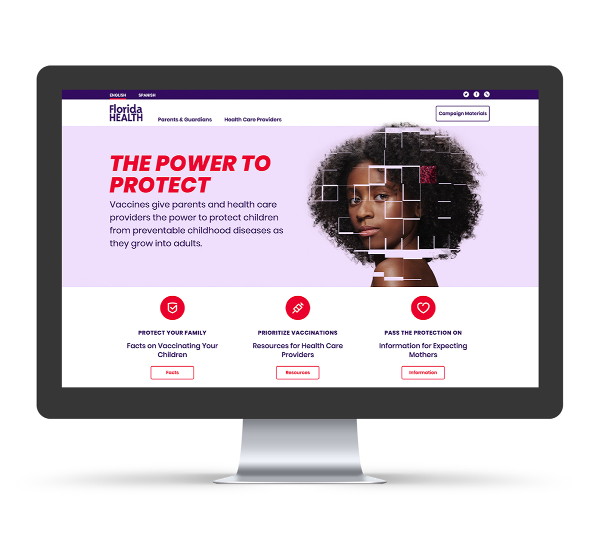 FDOH Website Mockup