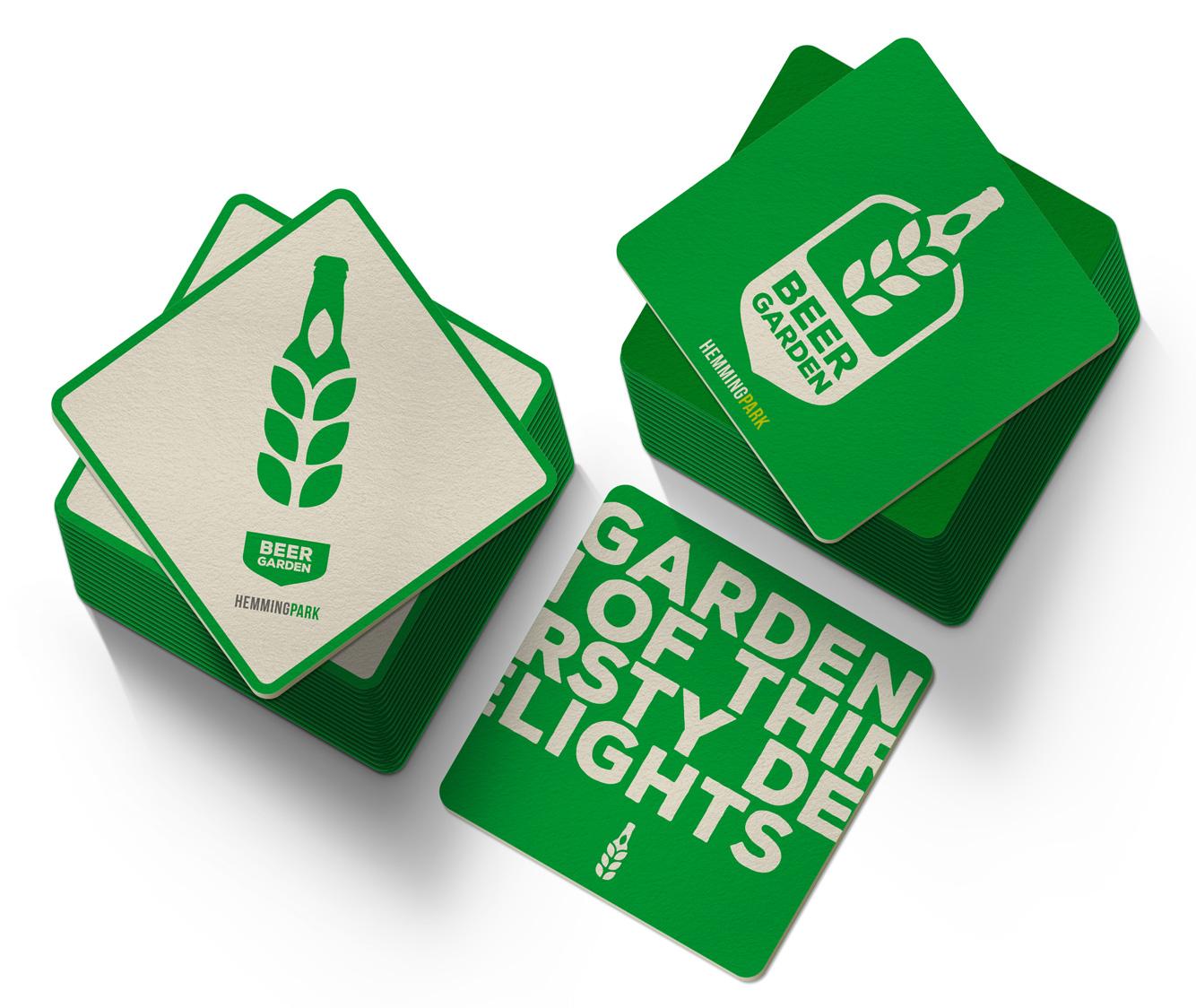 Beer Garden coasters