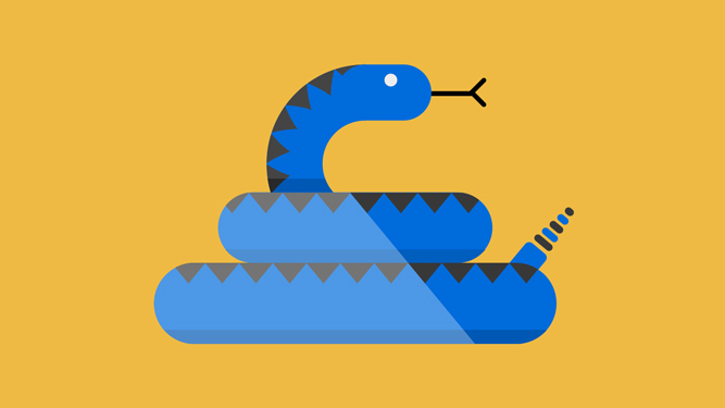 illustration of a rattlesnake