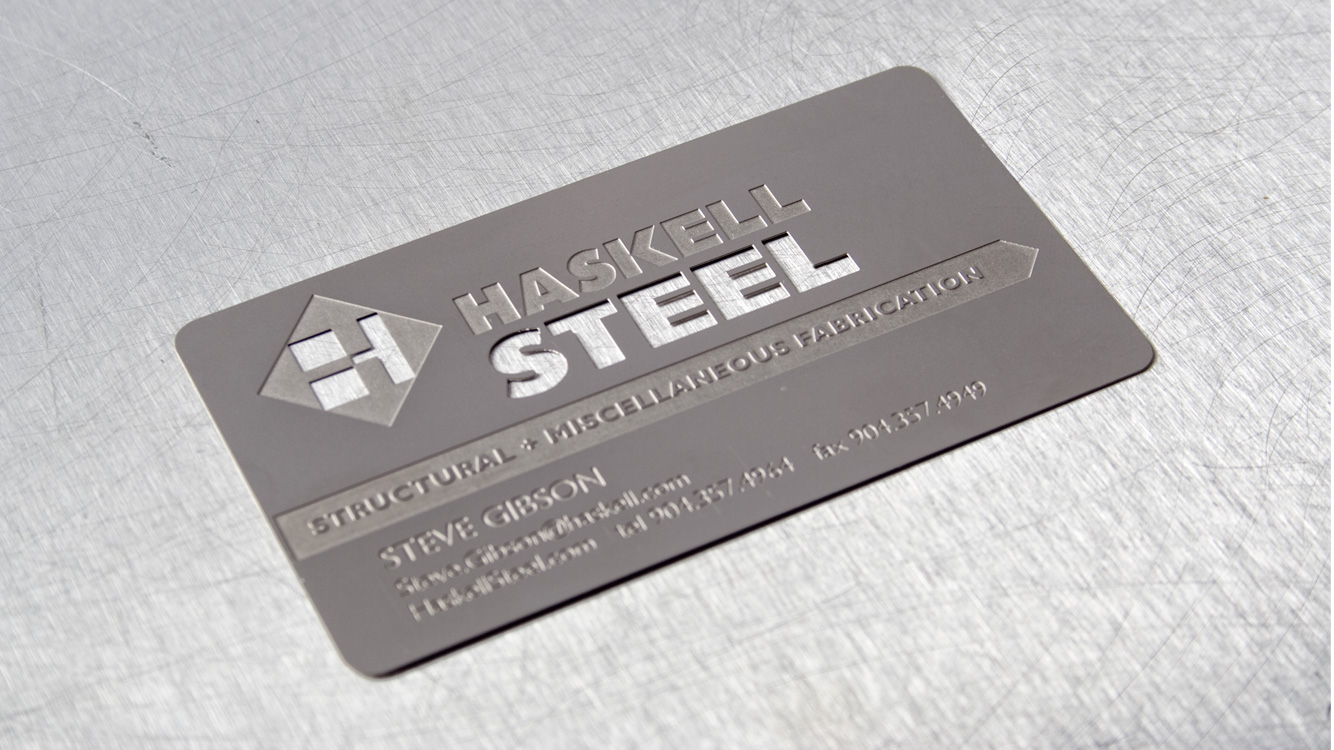 Haskell Steel business card