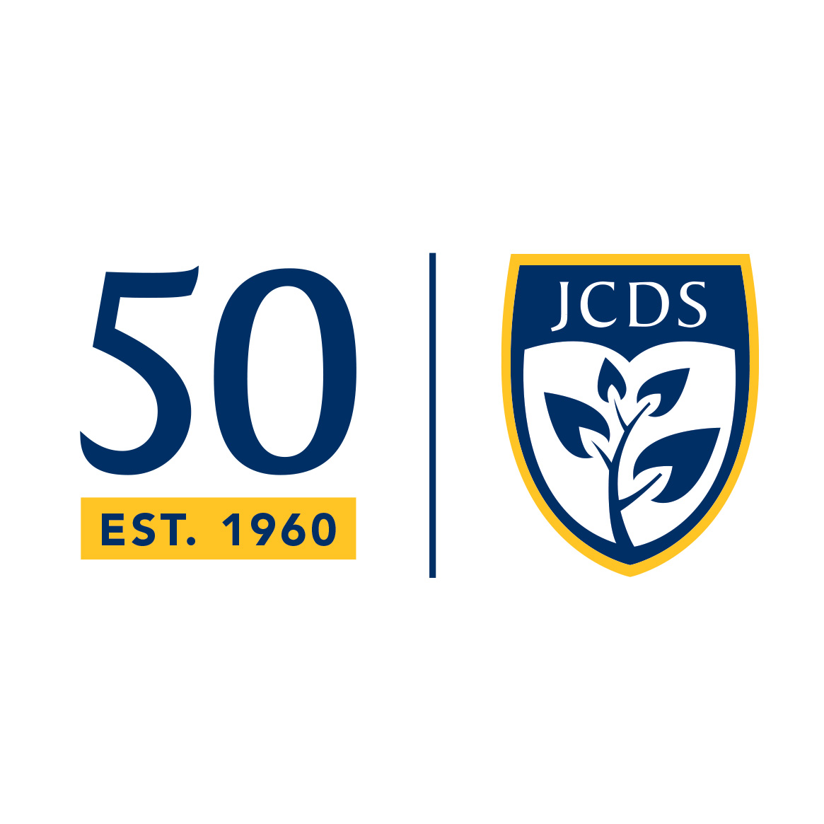 Jacksonville Country Day School 50th anniversary logo