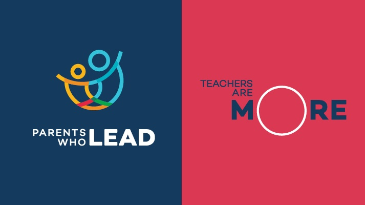 Logos for Parents Who Lead and Teachers Are More.