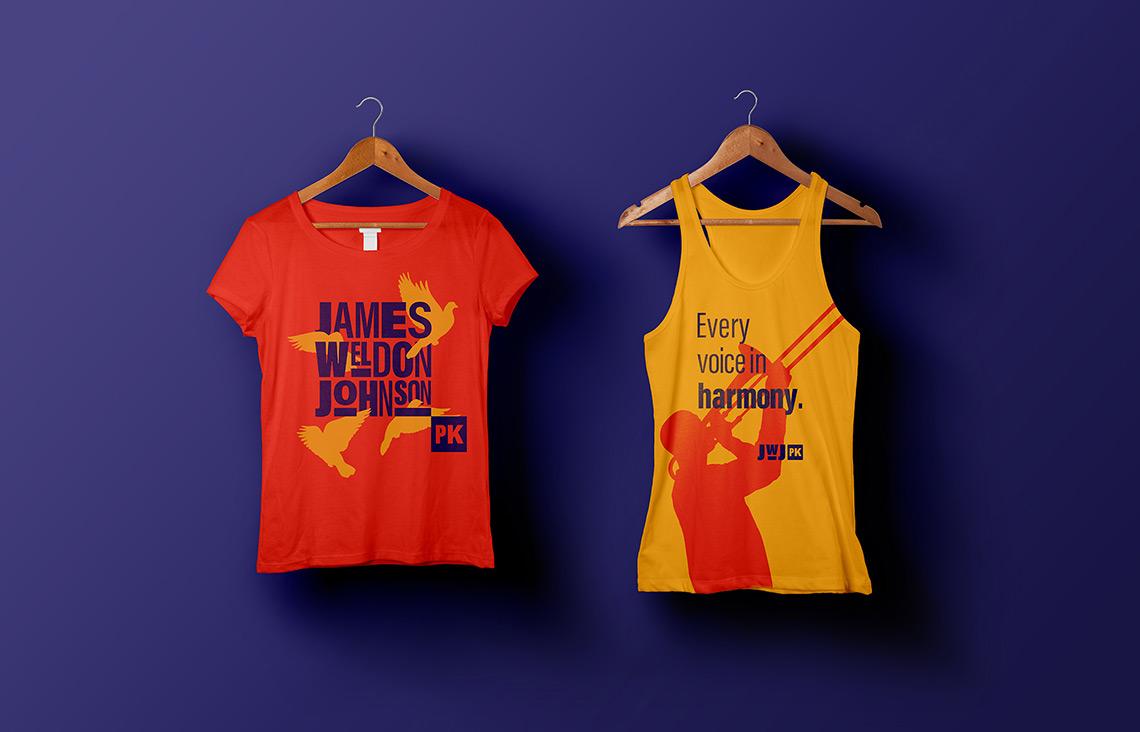 Colorful James Weldon Johnson Park t-shirts