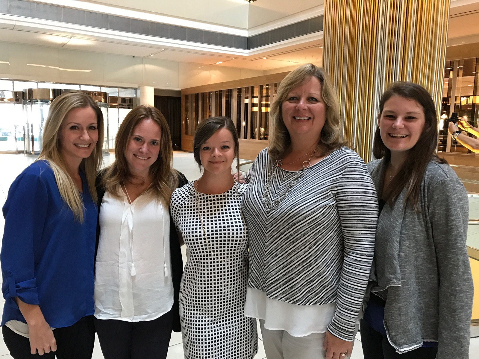 From left to right: Keenan Farrar, Anna Jaffee, Natalie Spindle, Kim Vermillion, and Francie Lefkowitz at NCHCMM 2017 in Atlanta, Georgia.