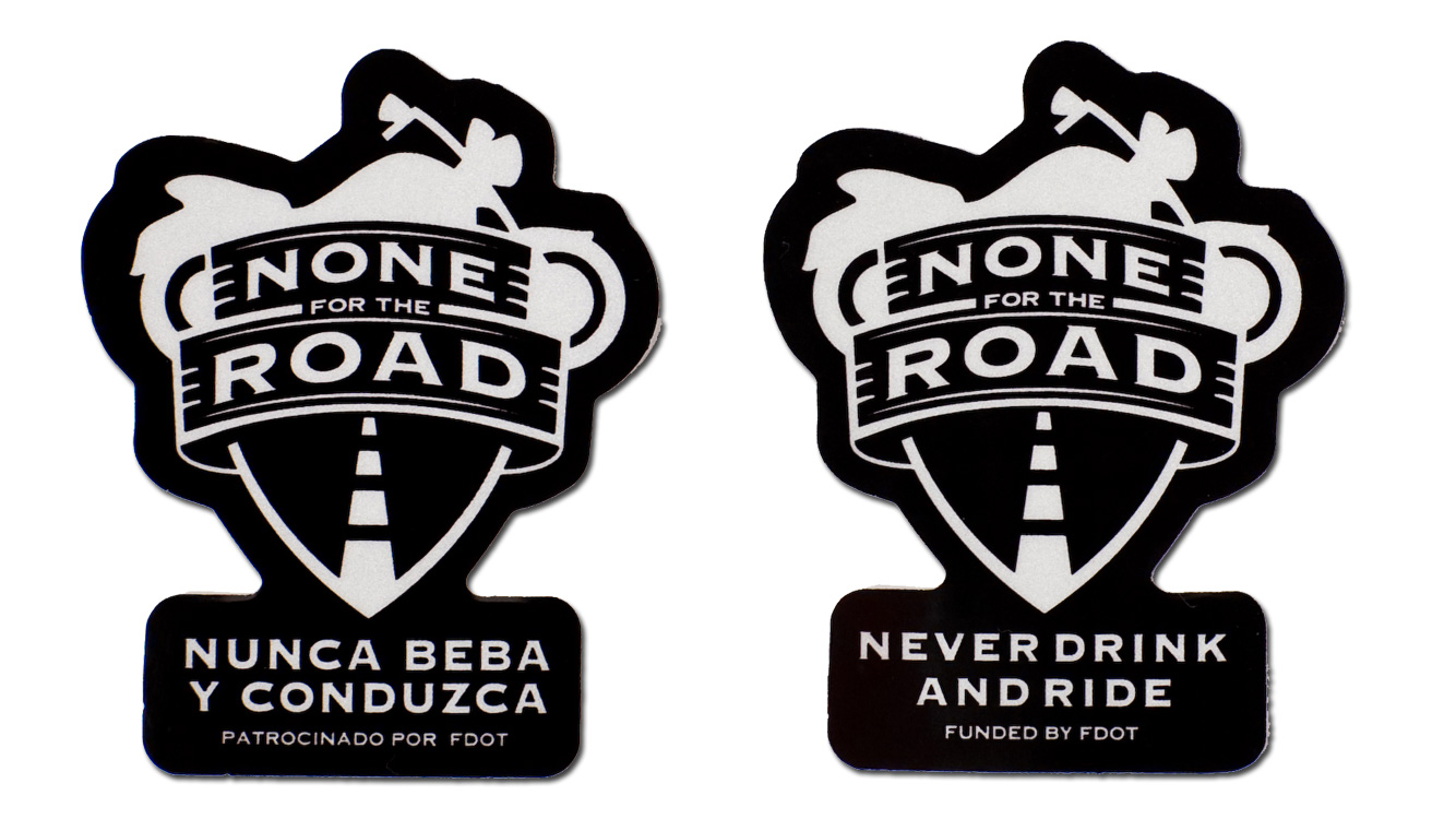None For The Road logo stickers