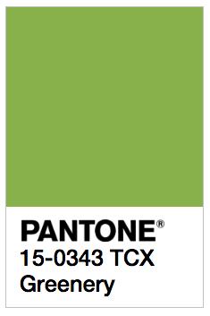PANTONE Greenery 15-0343