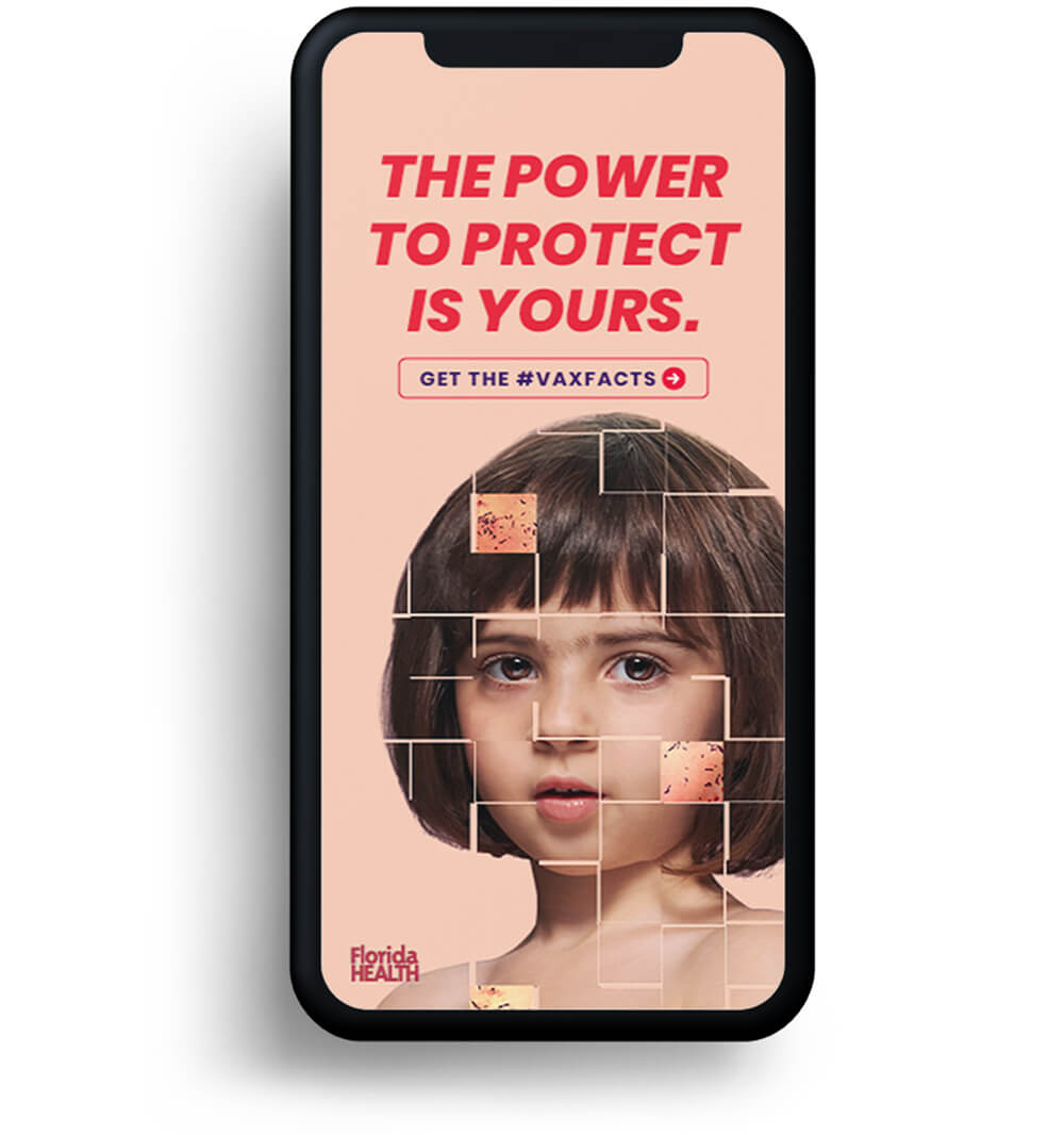 The Power to Protect digital phone mockup