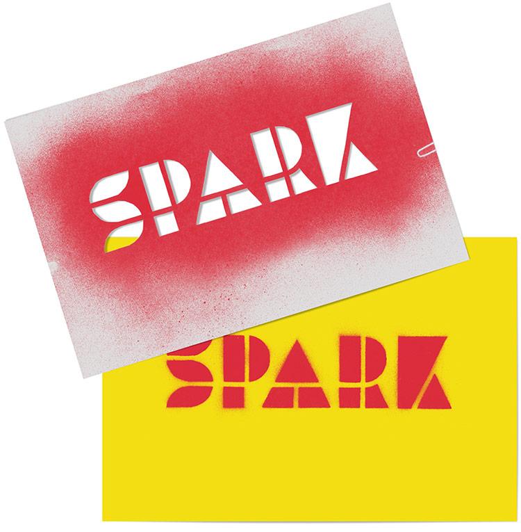 SPARK logo stencil