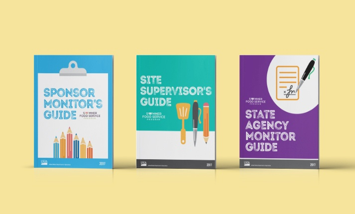 USDA Sponsor Monitor's Guide, Site Supervisor's Guide, and State Agency Monitor Guide.