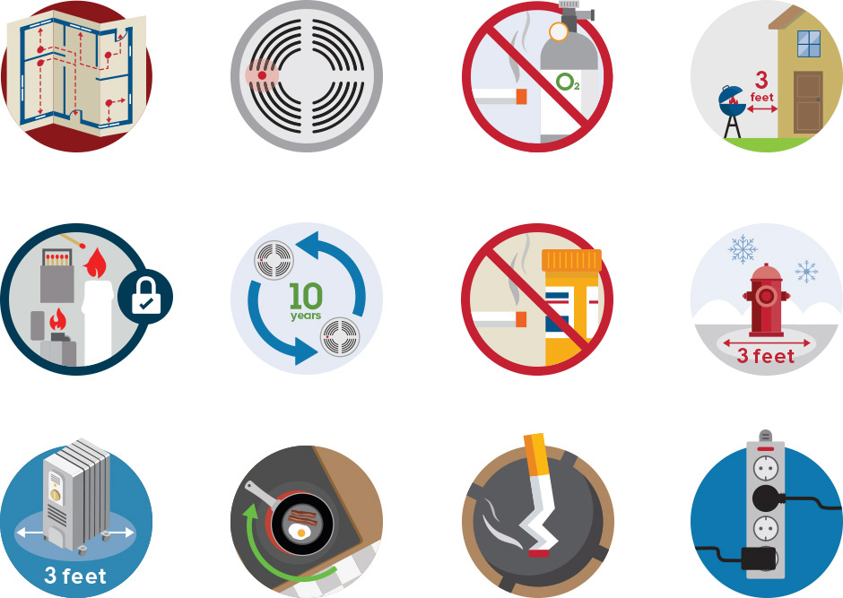 United States Fire Administration icons