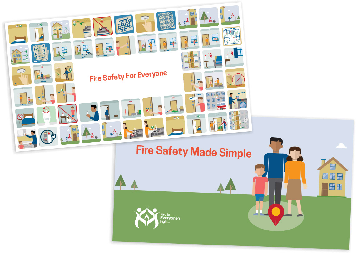 Postcards for United States Fire Administration's Fire Is Everyone's Fight campaign