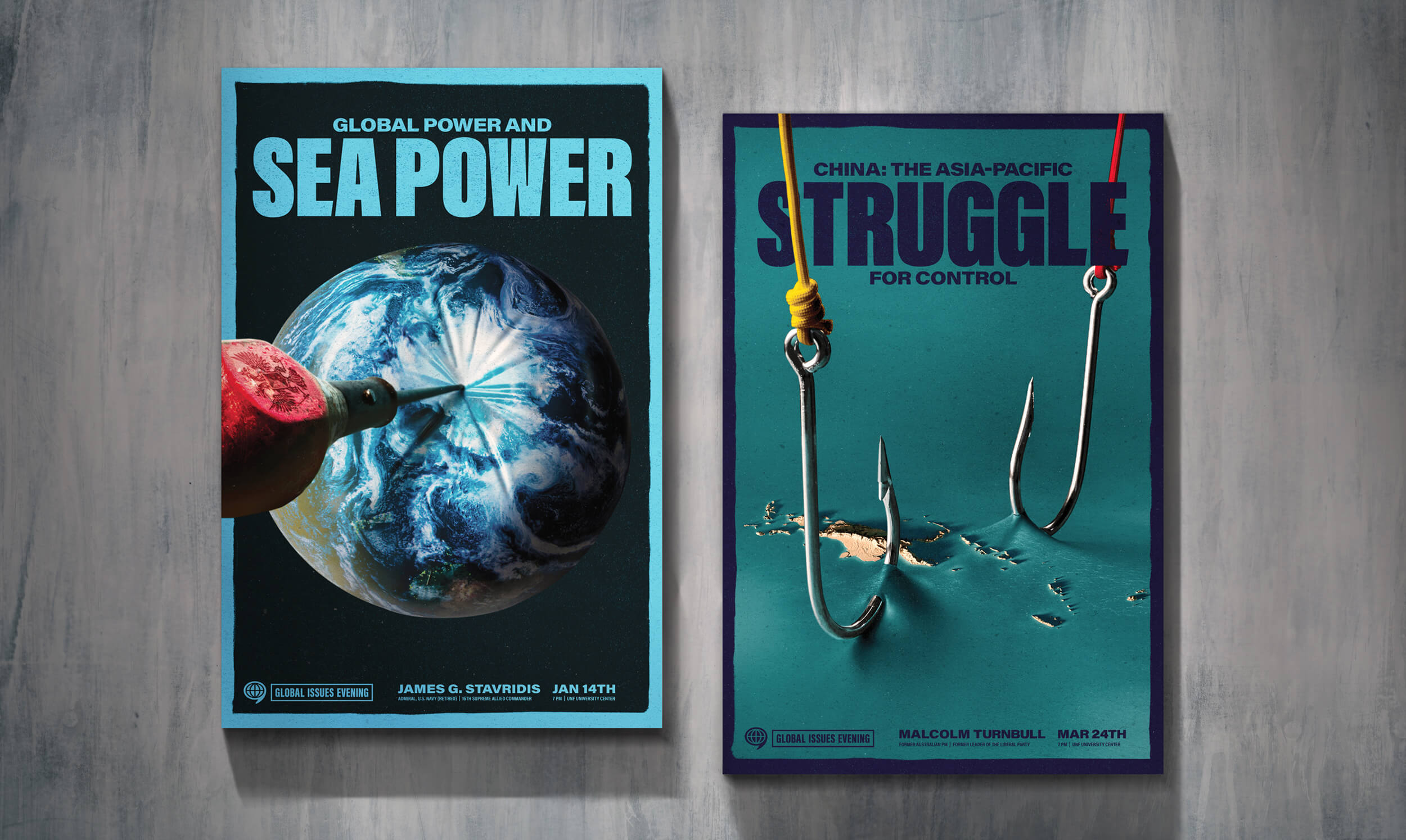 "WAC Posters for ""Sea Power"" and ""Struggle"""