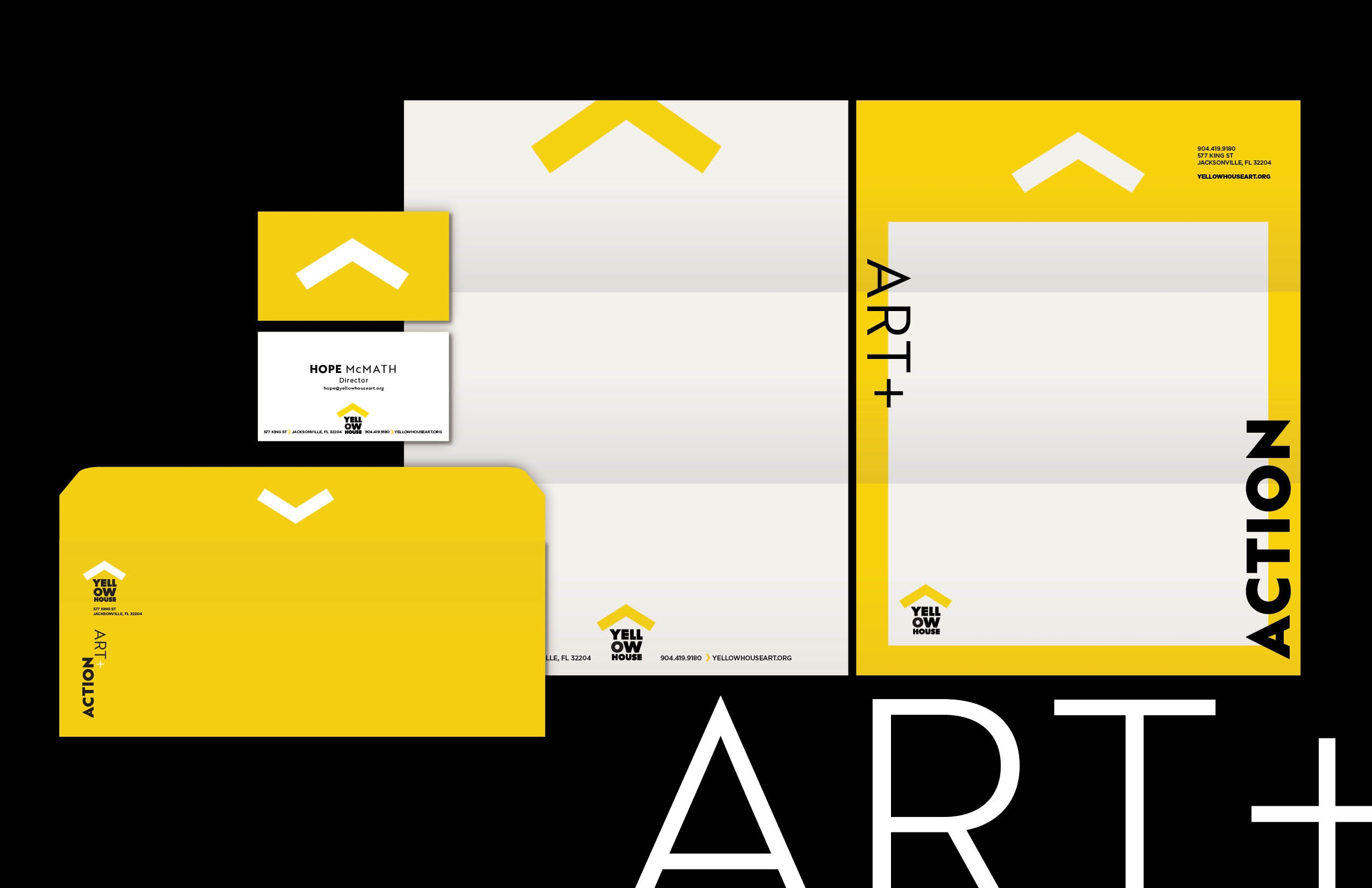 Several kinds of stationery for Yellow House.