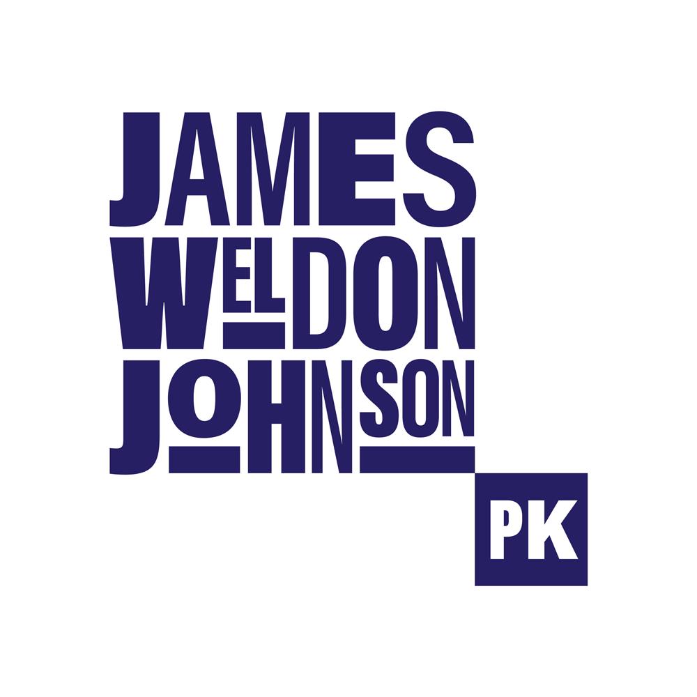A stacked James Weldon Johnson Park logo treatment