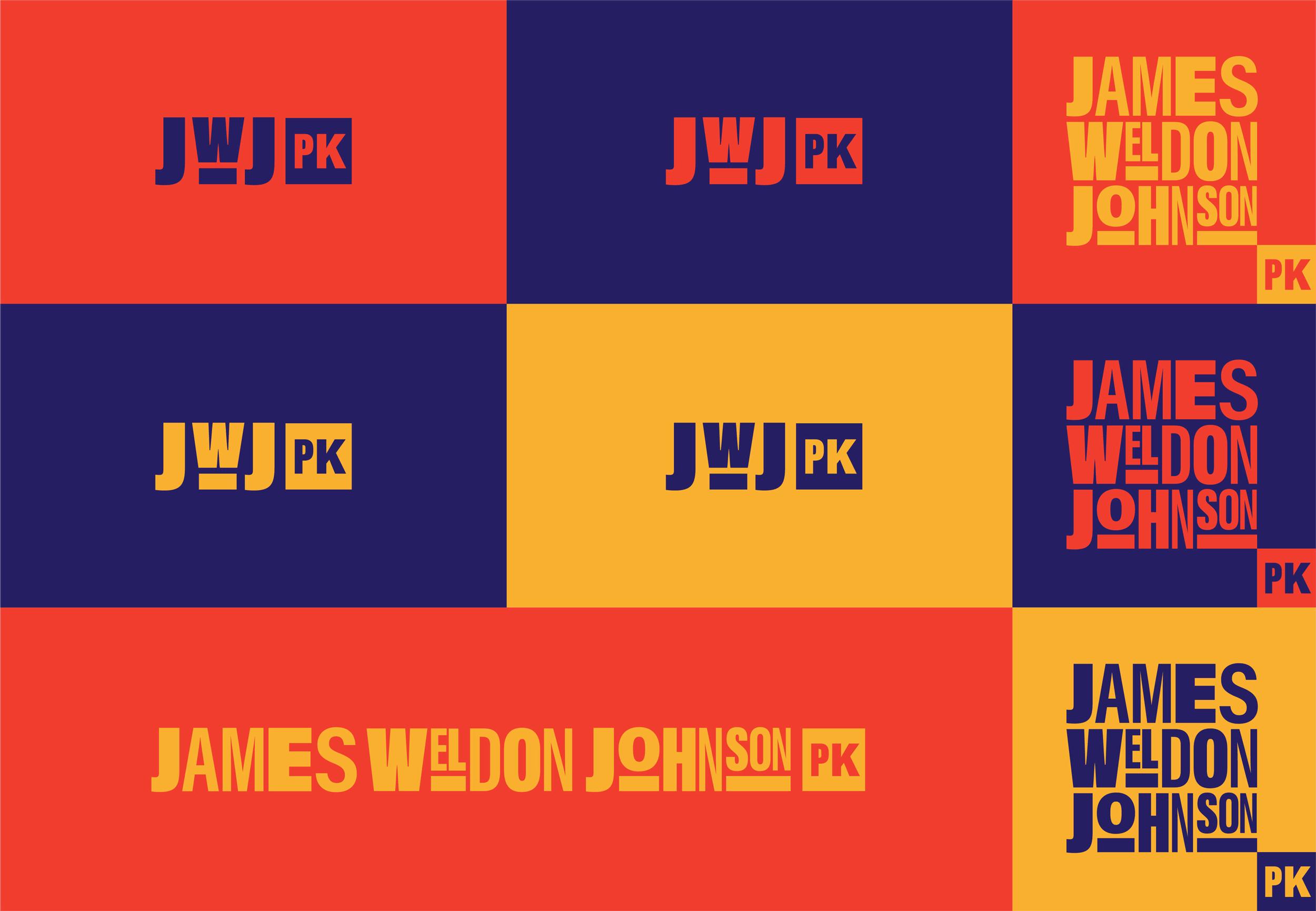 A collection of James Weldon Johnson Park logo treatments