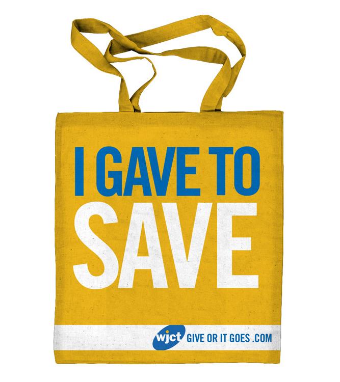 WJCT I Gave To Save bag